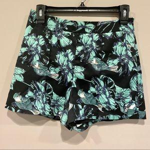McGinn Bird/Floral Print Shorts
